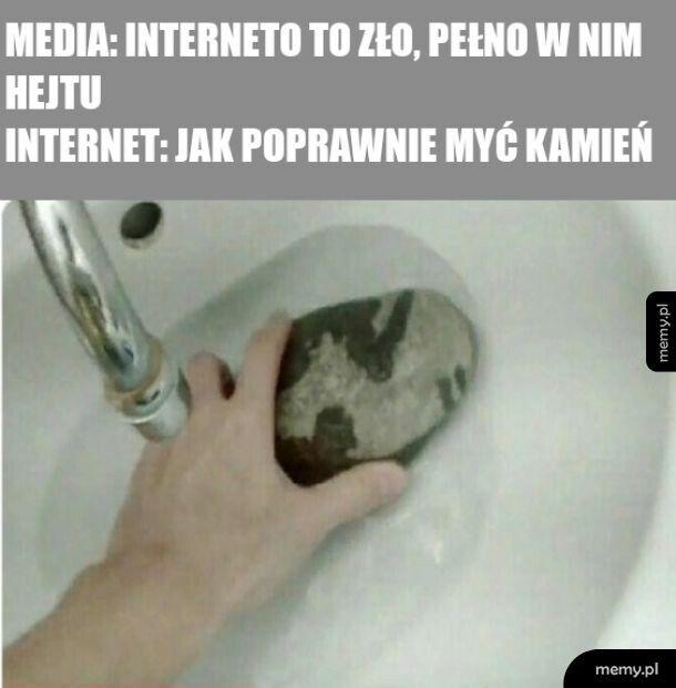 To ludzie robią hejt, a nie internet