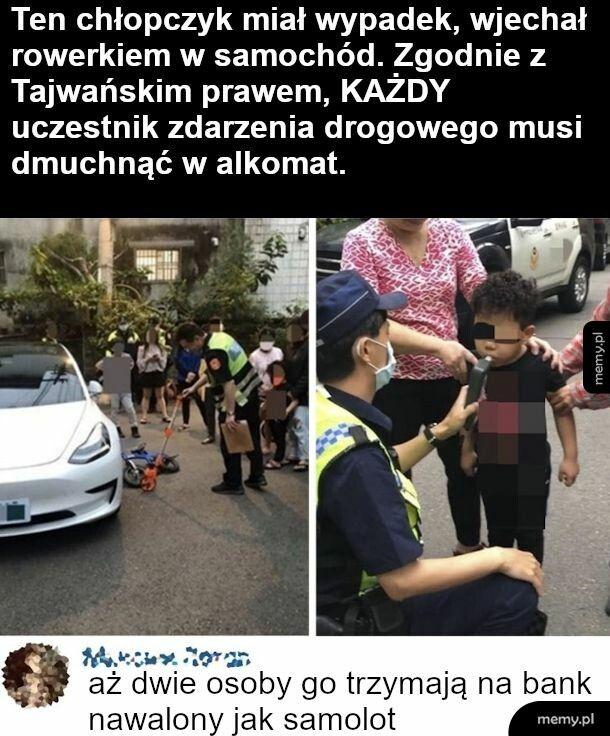 Wypadek w Tajwanie