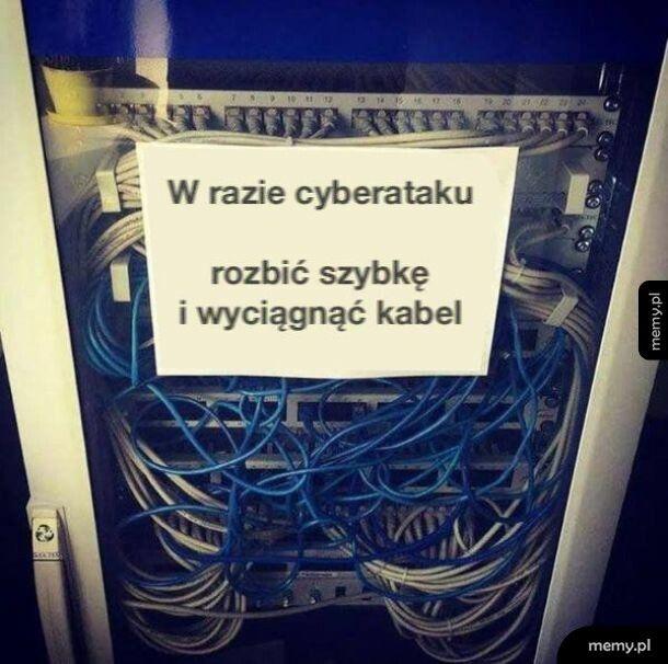 W razie cyberataku