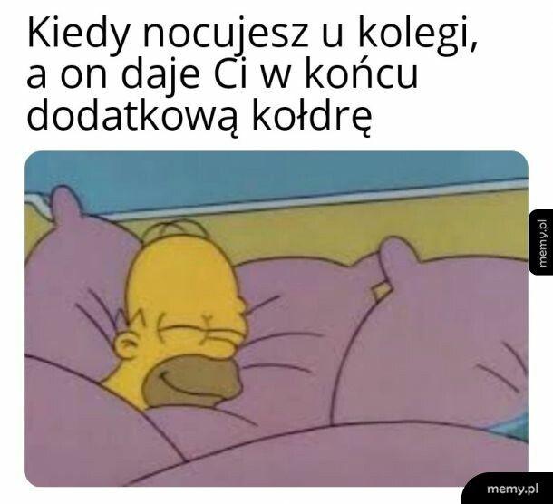 Nocowanie u kolegi