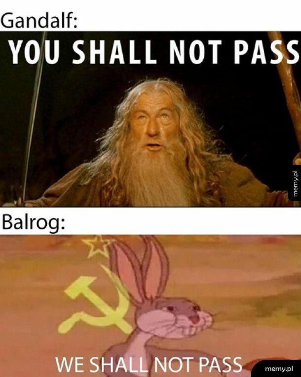 Gandalf jak Jezus tylko lepszy bo pokonał wielkiego ognistego stwora.