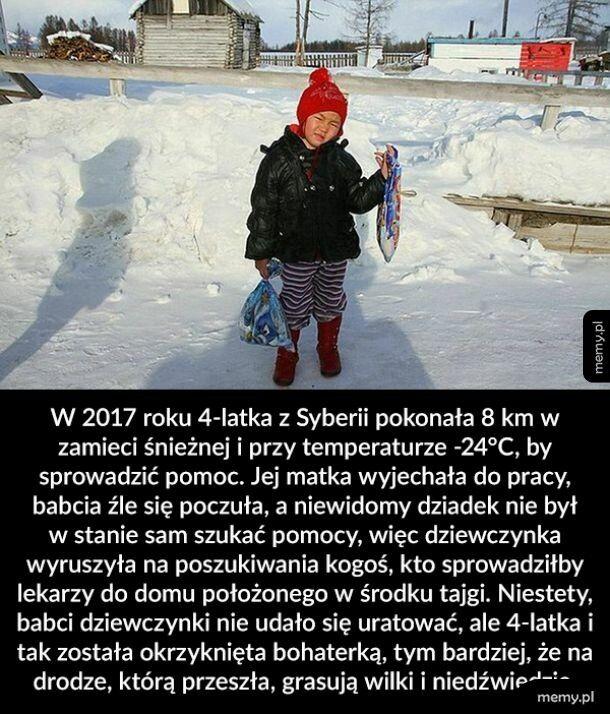 4-letnia heroska z Syberii