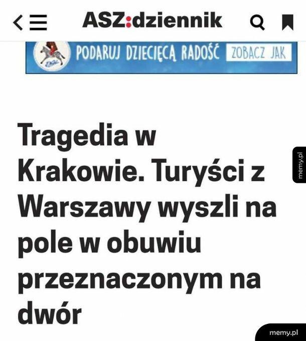 Tragedia w Krakowie