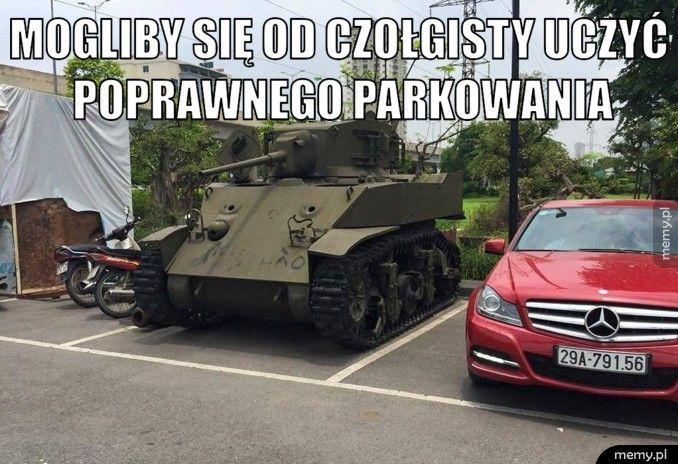 Wzorowe parkowanie.