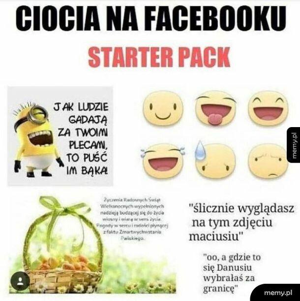 Ciocia na facebooku