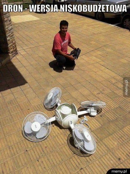 Dron - wersja niskobudżetowa.