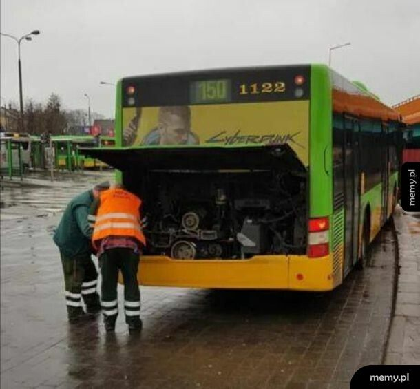 Zbugowany autobus.