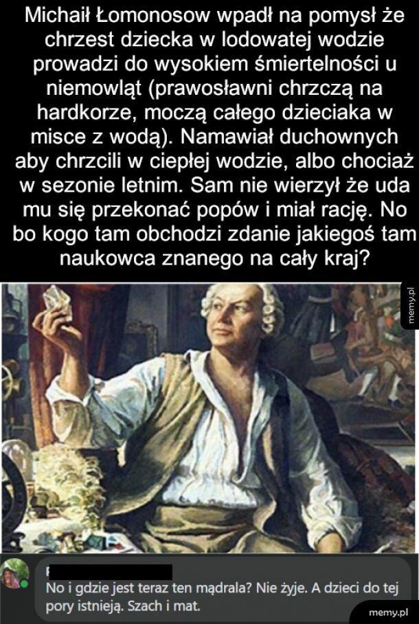 Osiemnastowieczny rosyjski poeta i uczony