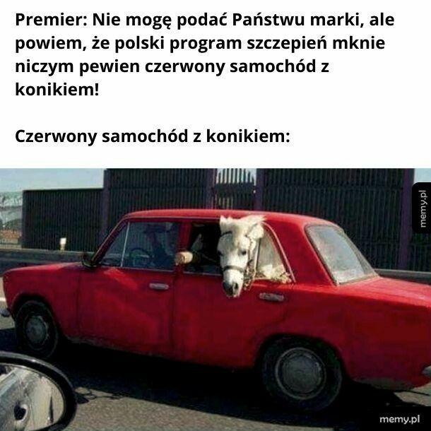 To oczywiście żarcik, bo polski program szczepień stoi