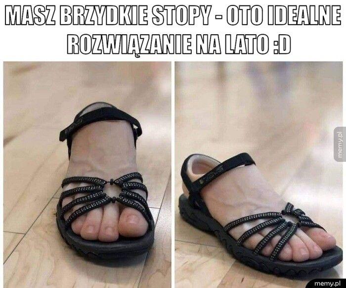 Masz brzydkie stopy - oto idealne                  rozwiązani