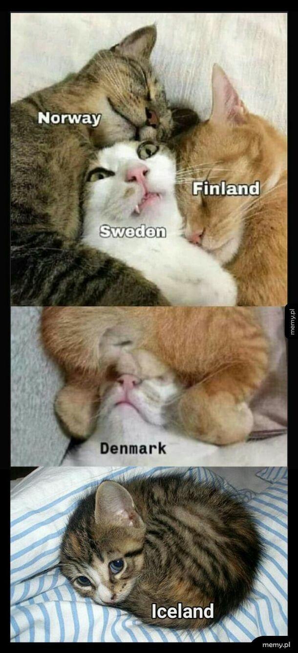 Mapa Skandynawii. Zestaw powiększony ;)