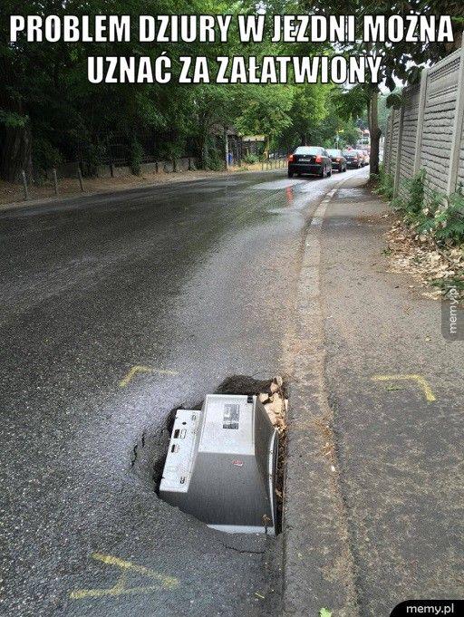 Problem dziury w jezdni można uznać za załatwiony