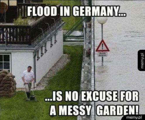Powódź to nie jest wymówka, ogród musi być zadbany