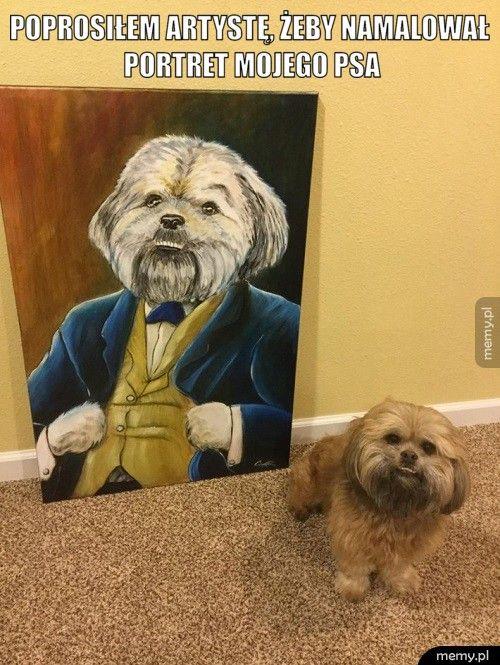 Poprosiłem artystę, żeby namalował portret mojego psa