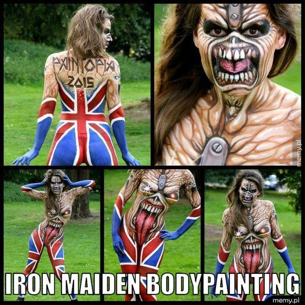 Iron Maiden bodypainting