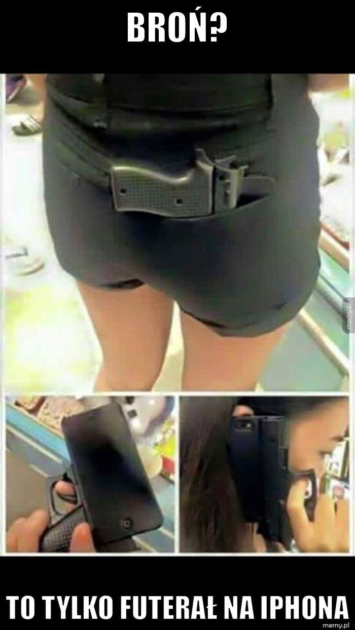 Atrapa broni jako futerał na iPhona