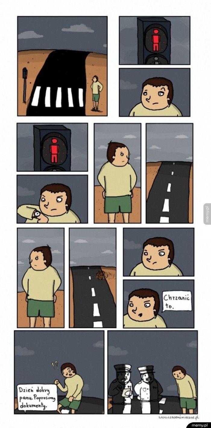 Przechodzenie na czerwonym