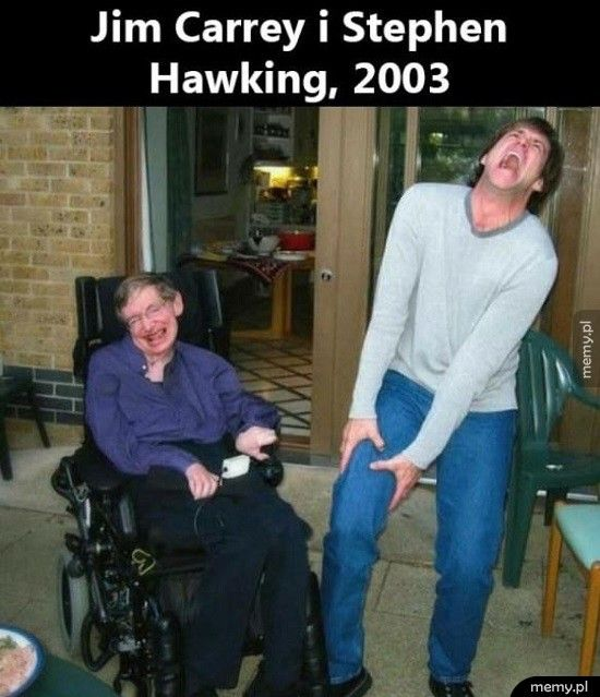Jim Carry i Stephen Hawking