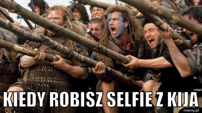 Kiedy robisz selfie z kija