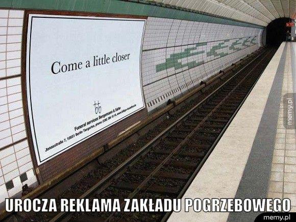 Urocza reklama zakładu pogrzebowego