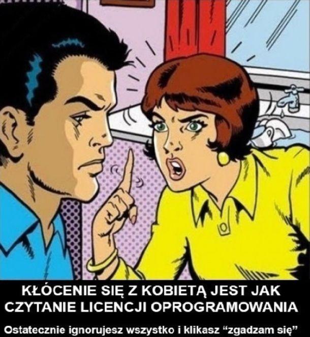 Kłótnia z kobietą.