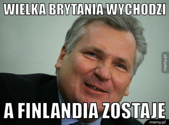 Wielka Brytania wychodzi a Finlandia zostaje