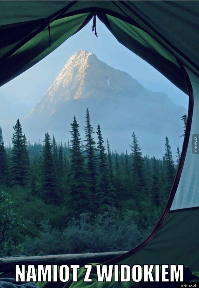 Namiot z widokiem