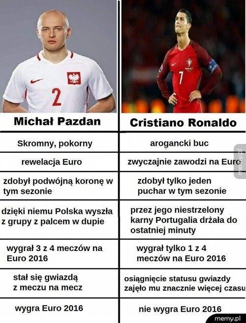 Pazdan vs Ronaldo