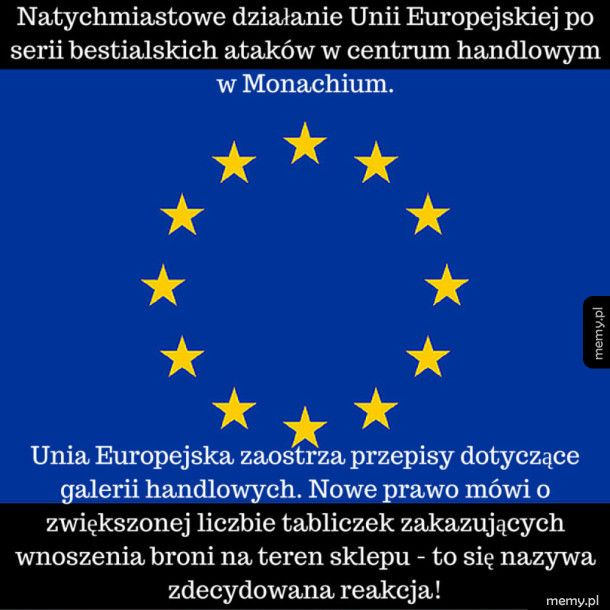 Natychmiastowa reakcja Unii Europejskiej