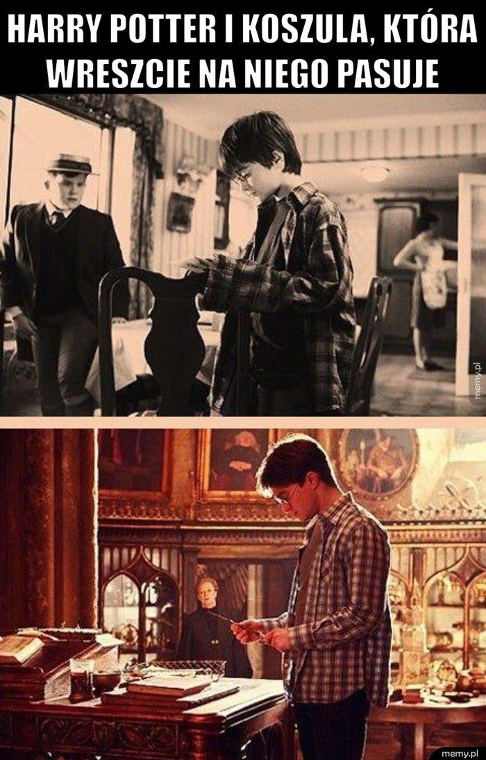 Harry Potter i koszula, która wreszcie na niego pasuje