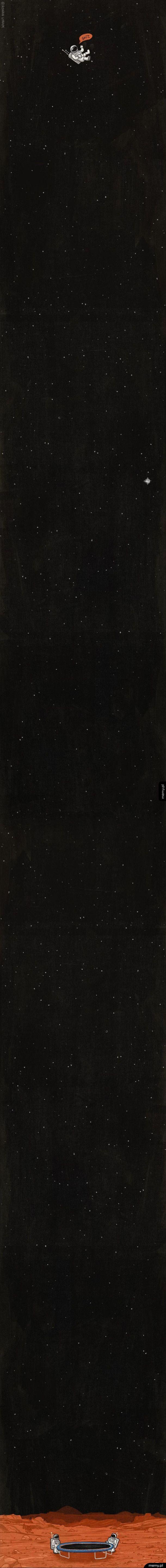 Trampolina w kosmosie to bardzo zły pomysł