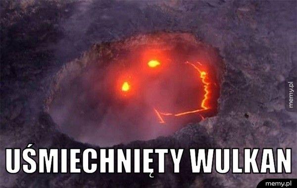Uśmiechnięty wulkan