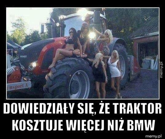 Dowiedziały się, że traktor kosztuje więcej niż BMW