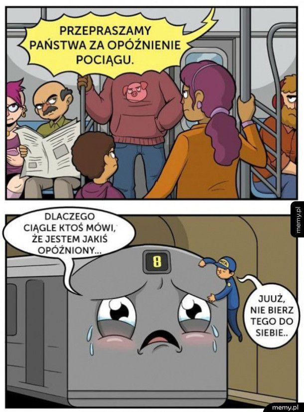 Opóźniony pociąg - Memy.pl