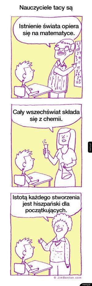 Nauczyciele tacy są