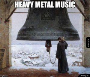 Ciężka metalowa muzyka