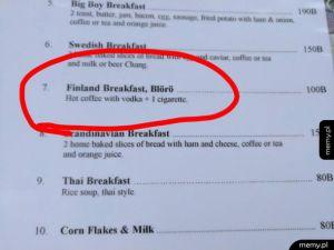Fińskie śniadanie