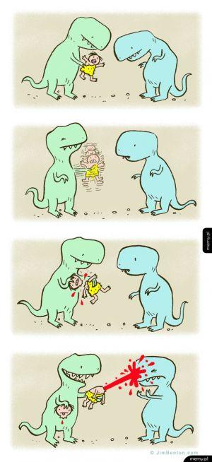 Zabawy T-rexów