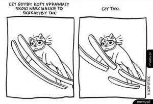 Gdyby koty skakały na nartach