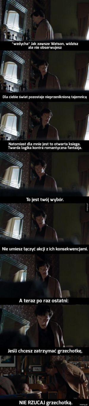 Sherlock i grzechotka