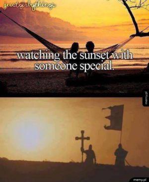Oglądanie wschodu słońca z kimś specjalnym
