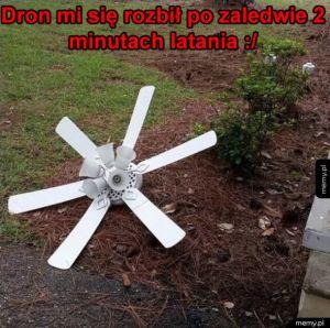 Uszkodzony dron