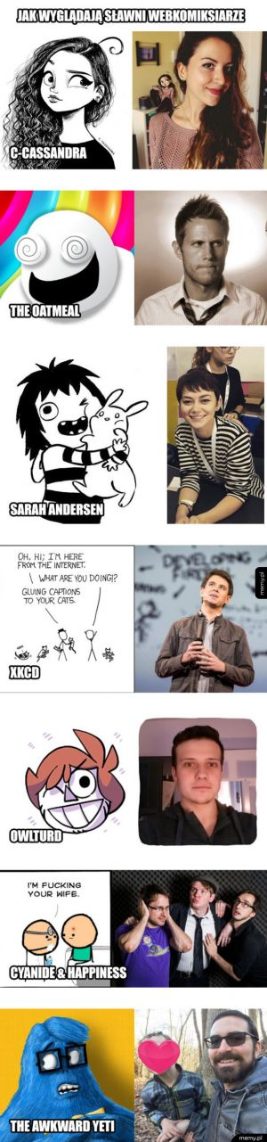 Jak wyglądają sławni webkomiksiarze