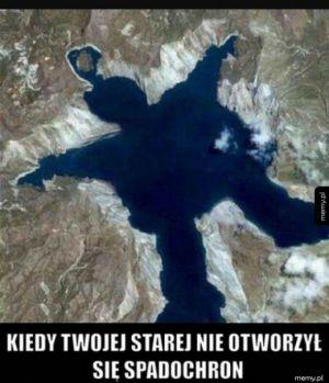 Ooooo nie spadochron się nie otworzył !!!