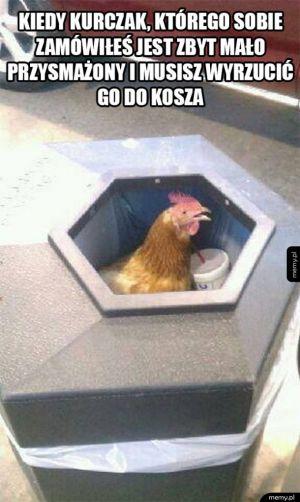 Zbyt surowy kurczaczk