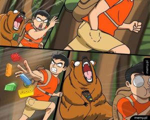 Ucieczka przed niedźwiedziem