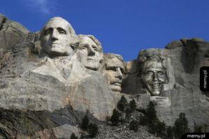 Tymczasem na górze Rushmore