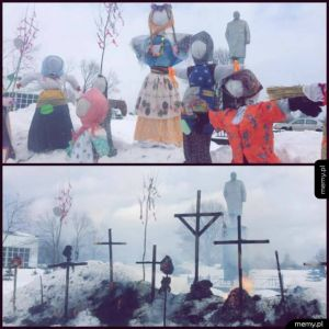 Koniec zimy w Rosji