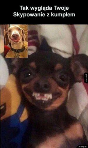 Skype z ziomkiem