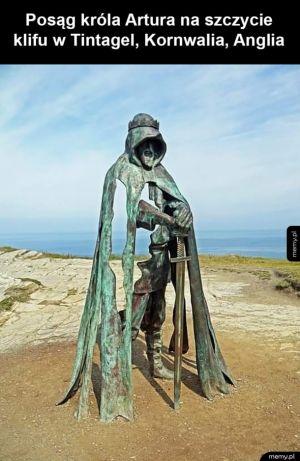 Posąg króla Artura